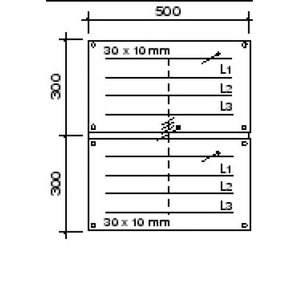 Hager Bedradingsset univers 4-p. 630A 2x95mm2