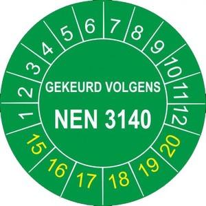 Brady KEURINGSZGL RD NEN3140 RND 25 100ST