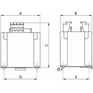Erea Stuurstroomtransformatoren 1-fase stuurtransformator 230-230V 63VA 2221