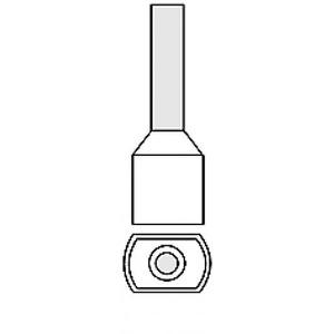 Klemko adereindhuls 0,5mm² 8mm Geïsoleerd Wit 727500