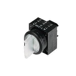 Siemens Knevelknop verlicht 22mm 3 st i-o-ii re.terugv li.vergr hld