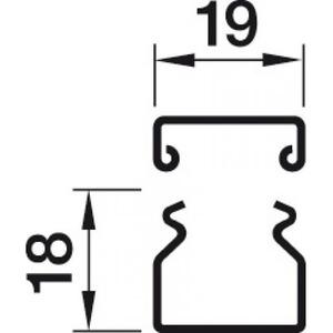 Hager LFS Kanaal+deksel 20020, verzinkt