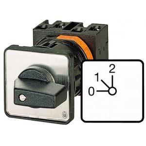 Eaton Stappenschakelaar, 1p, Ie=12A, FS 0-1-2, 45°, vast, 48x48mm, inbouw