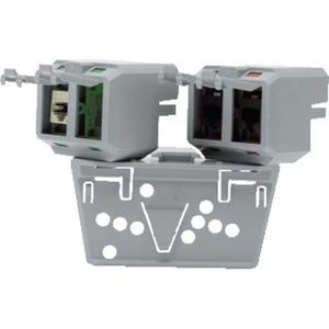 ABB 4-voudige dataverdeelpunt met montageplaat voor kabel-en/of draadgoot