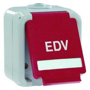 Peha Ziekenhuis installatie wandcontactdoos RA 1V Rood 00813111
