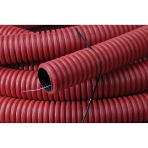 Pipelife Kabelflex flexibele buis rood 75mmx50m inclusief nylon trekkoord