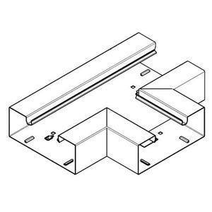 Hager BRS, T-stuk plaatstaal voor kanaal 100x170 mm, helderwit