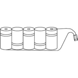 Eaton Blessing Batterijen voor armaturen, 1 blok van 5 cellen, 1,5Ah