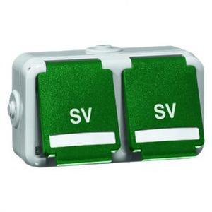Peha Ziekenhuis installatie wandcontactdoos RA 2V Groen 00803711