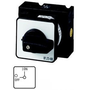 Eaton Aan-uit-schakelaar, 2p, Ie=25A, FS 0-1, 90°, 48x48mm, inbouw