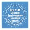 Nieaf-Smitt Nen keuringsstickers met datumaanduiding 25 mm.diam.set100