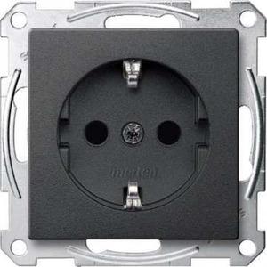 Merten SYSTEEM M wandcontactdoos RA 1V KV Antraciet MTN2300-0414