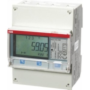 ABB Energiemeter 3f direct 65A, 230/400V AC klasse B, pulsuitg. , act. / r