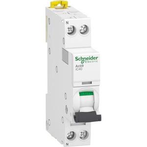 Schneider Electric Acti 9 Installatieautomaat C karakteristiek 10A 2p incl nul 1TE A9P52610