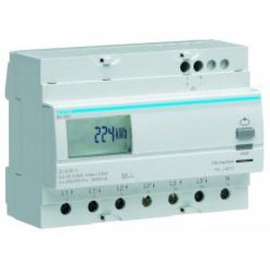 Hager kWh-meter 3 f, dir. 100 A, 1 tar, 7 mod