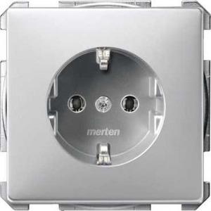 Merten ARTEC/ANTIEK wandcontactdoos RA 1V Aluminium MTN2301-4060