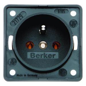 Berker wandcontactdoos Aardingspen 1V Antraciet 961852505