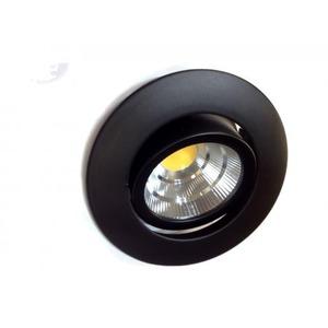 Newlec LED SPOT ZWART ROND 16W 2700K DRAAIBAAR, KANTELBAAR EN DIMBAAR