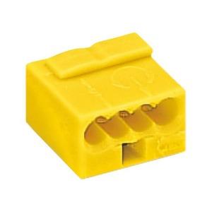 Wago MICRO LASKLEM 4x0,6-0,8MM2 GEEL