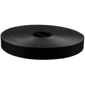 Mepac tweezijdig klittenband 20mm zwart flexibel rol 22,5m