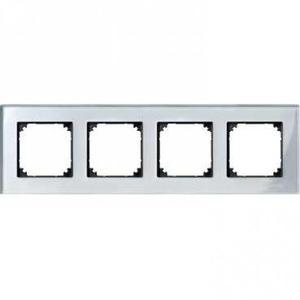 Merten M-ELEGANCE Afdekraam 4V Zilver IP20 MTN4040-3260