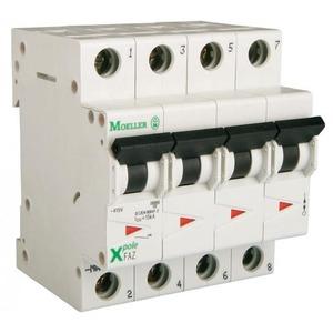 Eaton Installatieautomaat FAZ-B25/3N , B 25A , 4 Polig incl. NUL , 15 kA