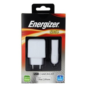 Energizer OPLAAD KIT 220V 12-24V 1A VOOR IPHONE / IPOD 30 PINS