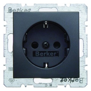 Berker S.1/B.3/B.7 wandcontactdoos RA 1V KV Antraciet 47231606