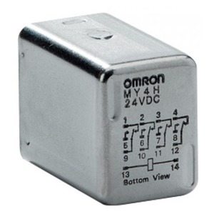 Omron Hermetically sealed relay, plug-in, 4PDT, 3 A, Class 1 Div. 2, 24 VDC