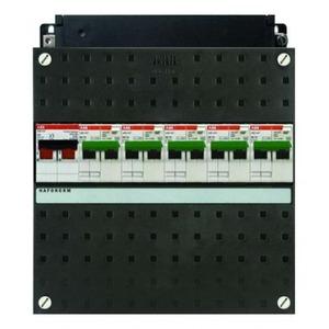 ABB 5x 16A/30mA,+HS, 1-f Installatiekast