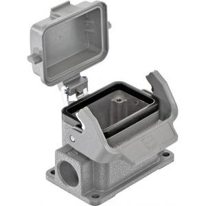 Harting 411 Behuizing rechthoekige connectoren IP65 B82mm H51,5mm Sokkelbehuizing Zij 19300061255