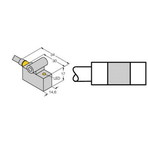 Turck MAGNETIC FIELD SENSOR, FOR PNEUMATIC CYLINDERS