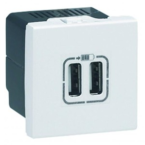 Legrand MOSAIC USB LADER 5V 2400MA 2 MOD.WIT