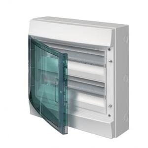 ABB Verdeelkast opbouw, 36mod, transp.deur, GWT750, 2rijen, IP65, RAL7035,