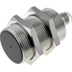 Omron M30, afgeschermd, Sn: 20 mm, L=44(59) mm, 12-24 VDC, PNP, NO, M12 conn