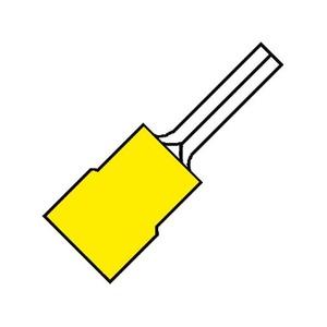 Klemko A4630sr pensteker 6 mm2 geel