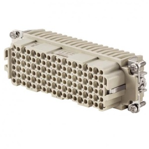 Weidmuller HDC HDD 42 MC HDC insert, Male, 250 V, 10 A, No. of poles: 42, Crimp