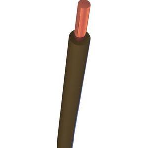 Nexans H07V-U Eca installatiedraad 4mm² Bruin 10533294