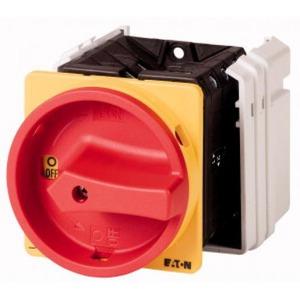 Eaton Hoofdschakelaar, 8p, Ie=63A, greep rood geel, 0-1, 90°, inbouw