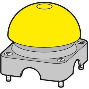 Eaton Bovenkast grijs, paddestoelkap geel