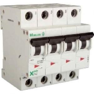 Eaton Installatieautomaat FAZ-C32/3N , C 32A , 4 Polig incl. NUL , 15 kA