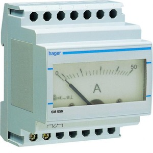 Hager Amperemeter analoog 0-50 A
