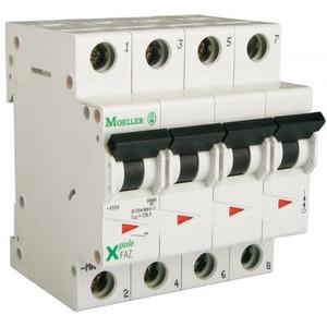 Eaton Installatieautomaat FAZ-C10/3N , C 10A , 4 Polig incl. NUL , 15 kA