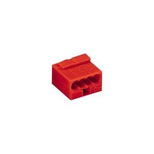 Wago Micro lasklem 4x0,6-0,8mm2 rood