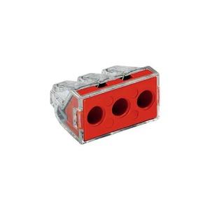 Wago Lasklem 3-voudig 6mm2 transparant