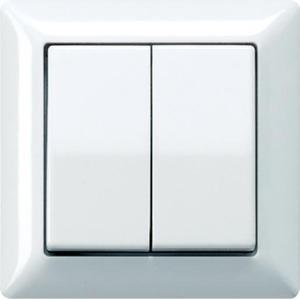 Jung As500 bedieningselement aan-/uit-schakelaar tweedelige wip crèmewit (elektrowit) as590-5