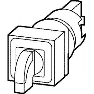Eaton Signaalkeuzeschakelaar, 2 standen, groen, terugverend,+gloeilamp 24V