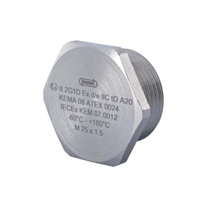 Hummel V-INOX-Ex-d blindplaat wartel kabel-/buisinvoer 16Metrisch 1896160050
