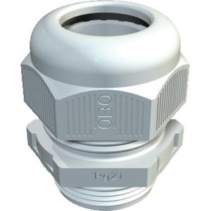 OBO Wartel korte tap, trekontlasting IP68 PG16, PA, lichtgrijs, RAL 7035