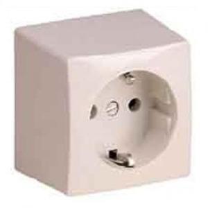 ABL SCHUKO wandcontactdoos RA 1V Cremewit/elektrowit 1491-010